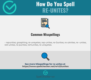 Correct spelling for re-unites