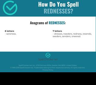 Correct spelling for rednesses