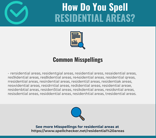 Correct spelling for residential areas