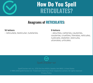 Correct spelling for reticulates