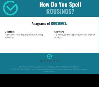 Correct spelling for rousings