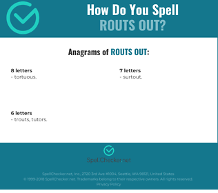Correct spelling for routs out