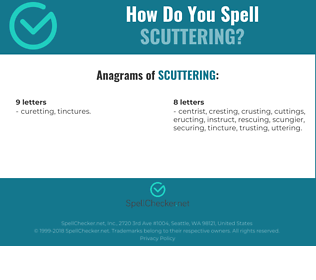 Correct spelling for scuttering