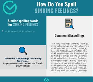 Correct spelling for sinking feelings
