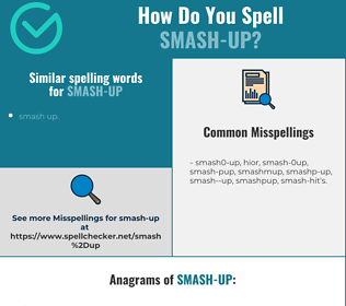Correct spelling for smash-up