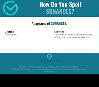 Correct spelling for sonances