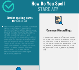 Correct spelling for stare at
