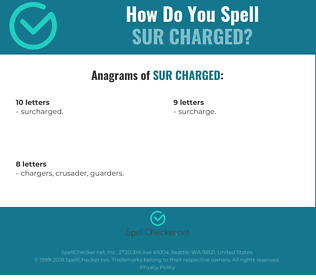 Correct spelling for sur charged