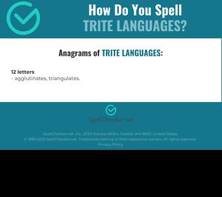Correct spelling for trite languages