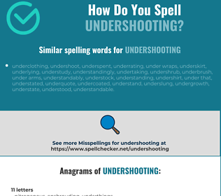 Correct spelling for undershooting