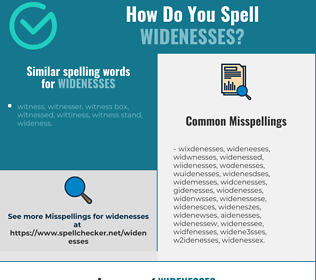 Correct spelling for widenesses