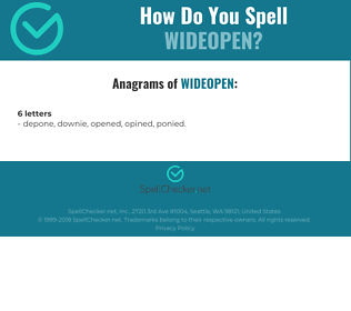 Correct spelling for wideopen