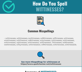 Correct spelling for wittinesses