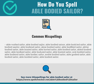 Correct spelling for able bodied sailor