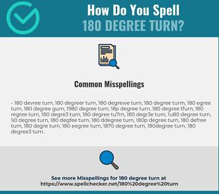 Correct spelling for 180 degree turn