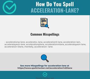 Correct spelling for acceleration-lane