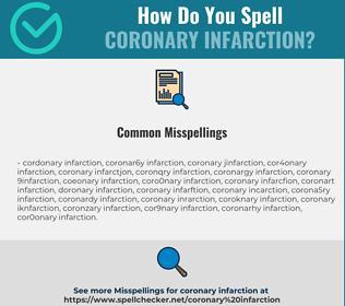 Correct spelling for coronary infarction
