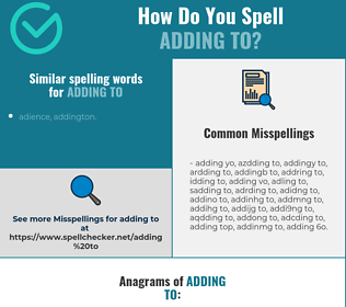 Correct spelling for adding to