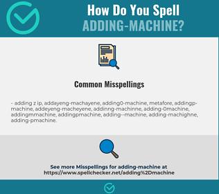 Correct spelling for adding-machine