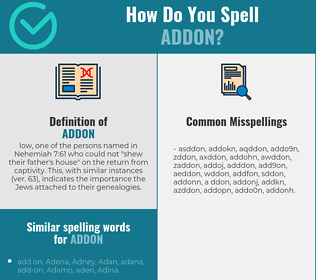 Correct spelling for addon