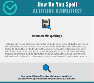Correct spelling for altitude azimuths