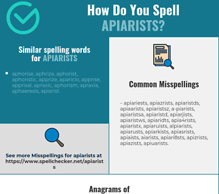 Correct spelling for apiarists