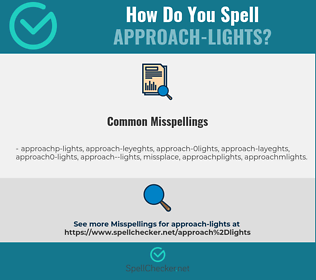 Correct spelling for approach-lights