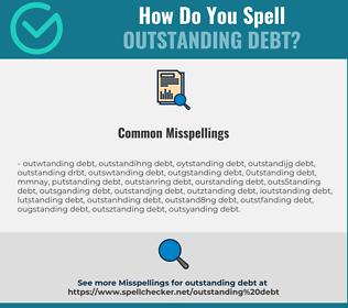 Correct spelling for outstanding debt