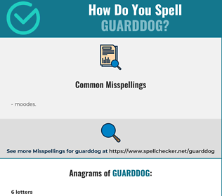 Correct spelling for guarddog