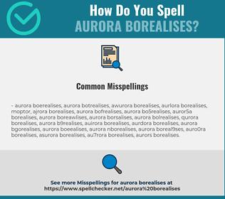 Correct spelling for aurora borealises