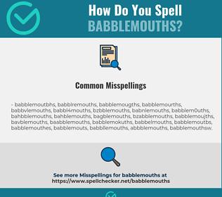 Correct spelling for babblemouths