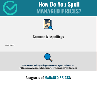 Correct spelling for managed prices