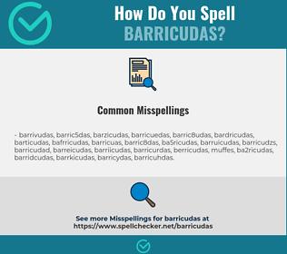 Correct spelling for barricudas