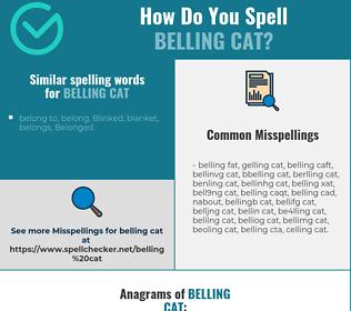 Correct spelling for belling cat