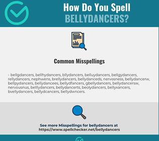 Correct spelling for bellydancers
