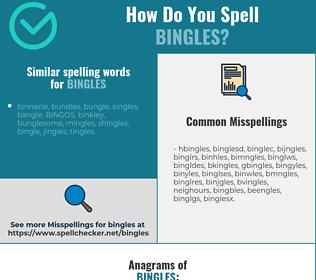 Correct spelling for bingles