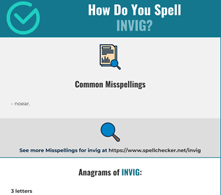 Correct spelling for invig