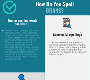 Correct spelling for brans