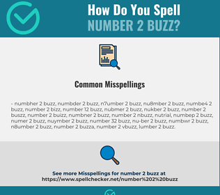 Correct spelling for number 2 buzz