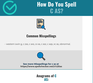 Correct spelling for c as