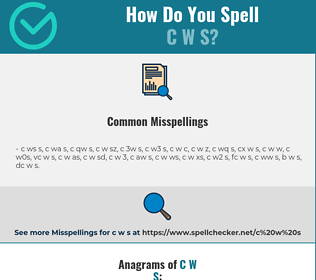 Correct spelling for c w s