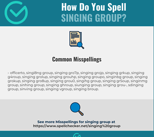 Correct spelling for singing group