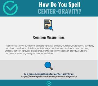 Correct spelling for center-gravity