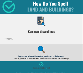 Correct spelling for land and buildings