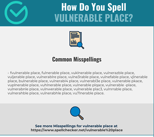 Correct spelling for vulnerable place