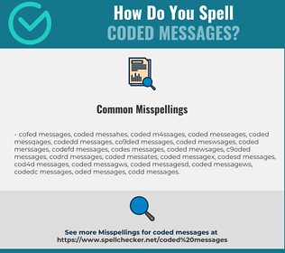 Correct spelling for coded messages