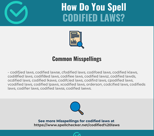 Correct spelling for codified laws