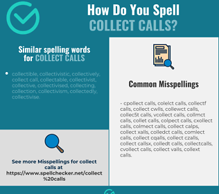 Correct spelling for collect calls