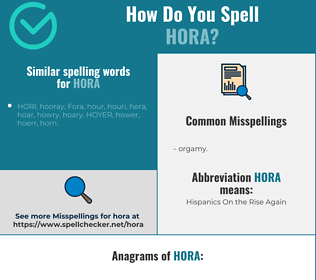 Correct spelling for hora