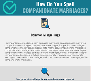Correct spelling for companionate marriages